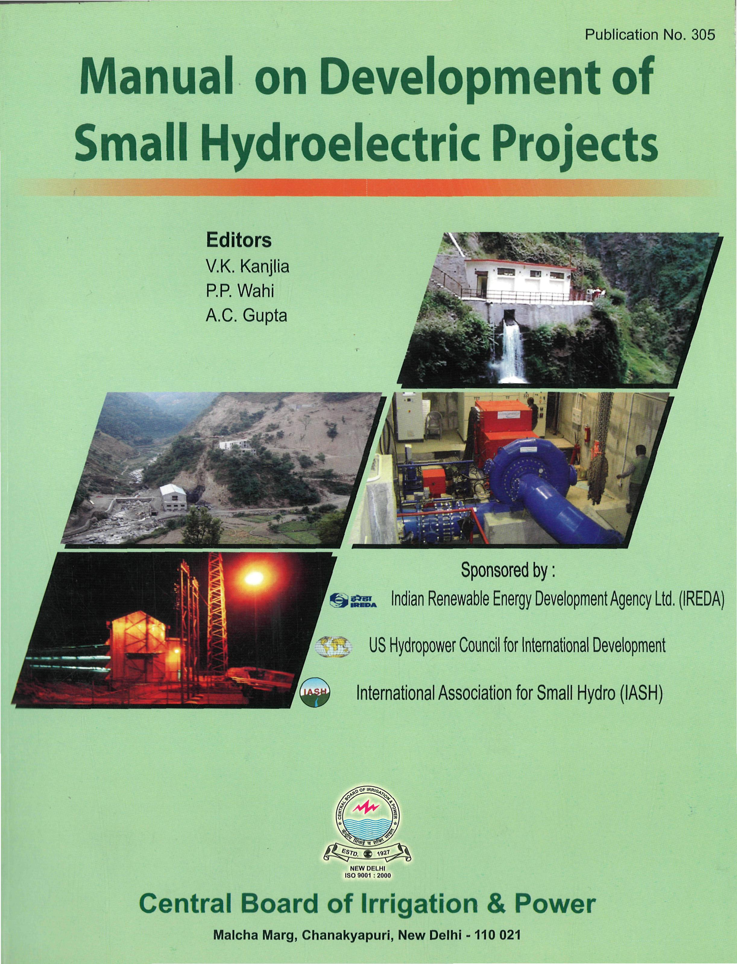 Book Title: Manual on Development of Small Hydroelectric Project